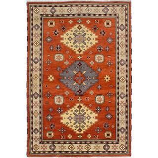 eCarpetGallery Royal Kazak Brown Hand-knotted Wool Rug (6'5 x 9'6)