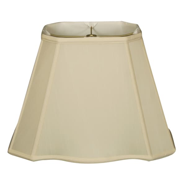 Royal Designs Fancy Bottom Rectangle Basic Lamp Shade, Eggshell, 4 x 6 x 7 x 10 x 8.5