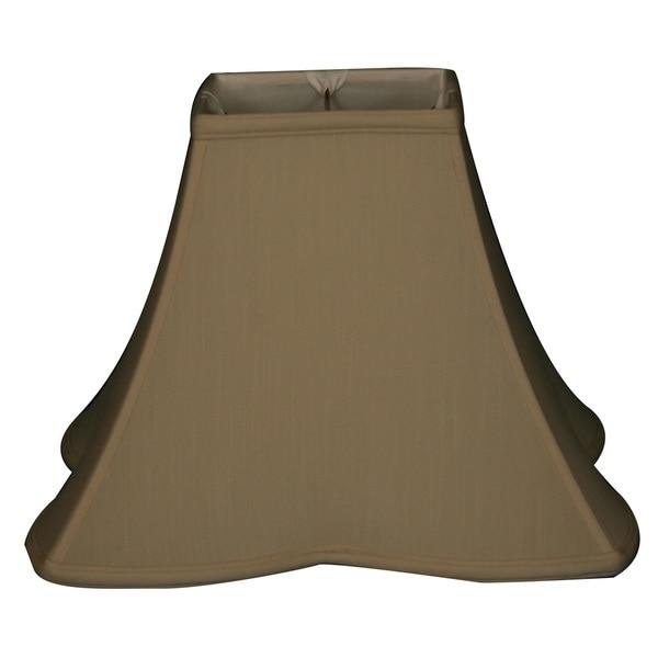 Royal Designs Sharp Corner Fancy Square Basic Lamp Shade, Beige, 6.5 x 16 x 12