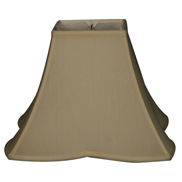 Royal Designs Sharp Corner Fancy Square Basic Lamp Shade, Eggshell, 6 x 14 x 11