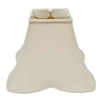 Royal Designs Sharp Corner Fancy Square Basic Lamp Shade, Beige, 6 x 14 x 11