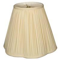Royal Designs Bottom Scallop Gather Pleat Basic Lamp Shade, Eggshell, 9 x 18 x 14
