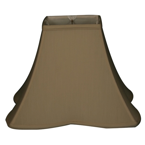 Royal Designs Sharp Corner Fancy Square Basic Lamp Shade, Beige, 5 x 10 x 9