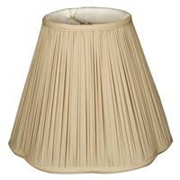 Royal Designs Bottom Scallop Gather Pleat Basic Lamp Shade, Beige, 9 x 18 x 14