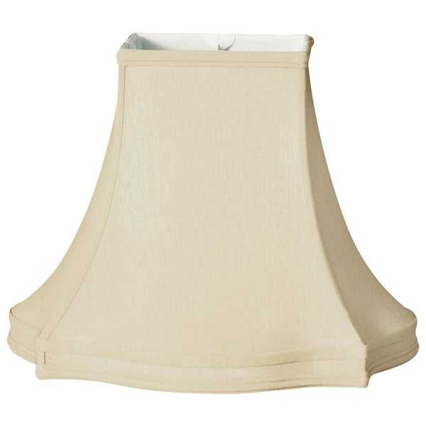 Royal Designs Fancy Square / Gallery Basic Lamp Shade, Beige, 8 x 18 x 14.5