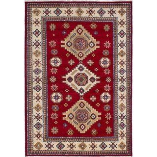 eCarpetGallery Royal Kazak Red Wool Hand-knotted Area Rug (6'9 x 9'10)