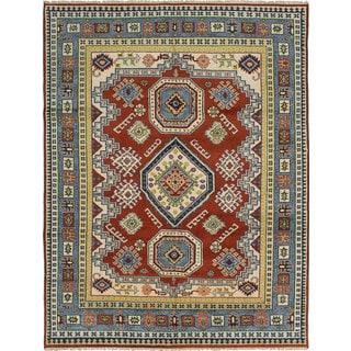ecarpetgallery Hand-Knotted Royal Kazak Brown Wool Rug (8' x 10'4)