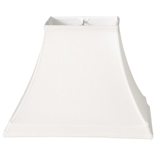 Royal Designs Square Bell Gallery Basic Lamp Shade, White, 7 x 14 x 10