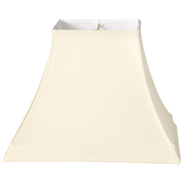 Royal Designs Square Bell Gallery Basic Lamp Shade, Eggshell, 7 x 14 x 10