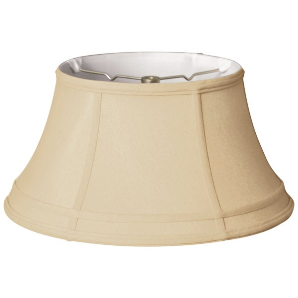 Royal Designs Modified Bell Gallery Lamp Shade, Beige, 10 x 17 x 9