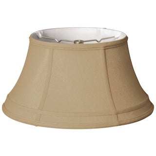 Royal Designs Modified Bell Gallery Lamp Shade, Antique Gold, 9 x 15 x 8