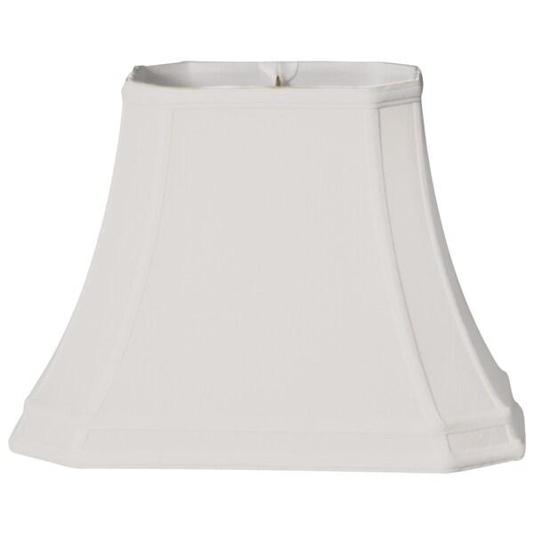 Royal Designs Rectangle Cut Corner Gallery Basic Lamp Shade, White, 7 x 9 x 10 x 16 x 11