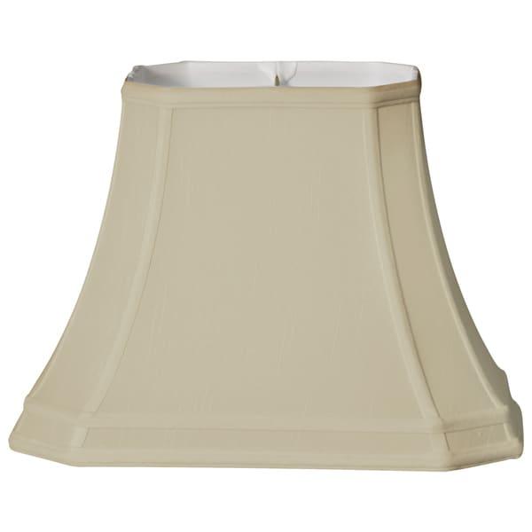 Royal Designs Rectangle Cut Corner Gallery Basic Lamp Shade, Beige, 6 x 8 x 9 x 14 x 10.5