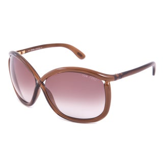 Tom Ford Charlie FT0201 Women's Translucent Brown Frame Brown Gradient Lens Sunglasses