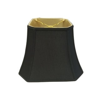 Royal Designs Square Cut Corner Bell Lamp Shade, Black, 7.5 x 12 x 10.25