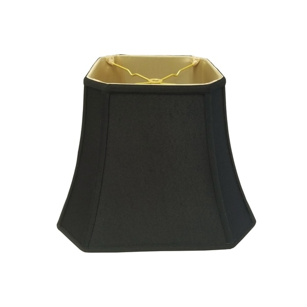 Royal Designs Square Cut Corner Bell Black Lamp Shade, 7.5 x 12 x 10.25