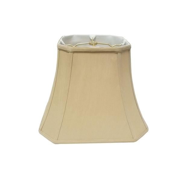 Royal Designs Square Cut Corner Bell Antique Gold Lamp Shade, 7.5 x 12 x 10.25