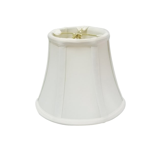 Royal Designs True Bell White Round Clip Lamp Shade, 3.75 x 7 x 6.75