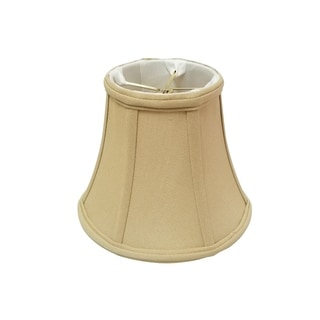 Royal Designs True Bell Lamp Shade, Antique Gold, 3.75 x 7 x 6.75, Round Clip, BS-704RC-7AGL