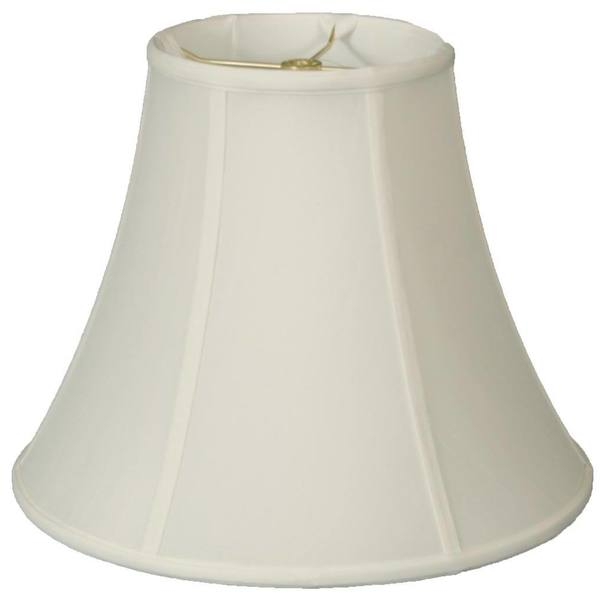Royal Designs True Bell White Flame Clip Lamp Shade, 3.5 x 6 x 6