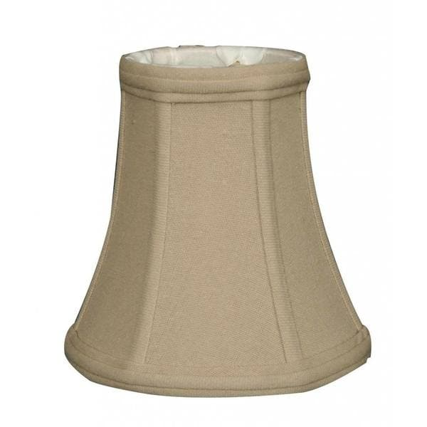 Royal Designs True Bell Lamp Shade, Linen Beige, 3.5 x 6 x 6.25, Flame Clip, BS-704-FC-6LNBG