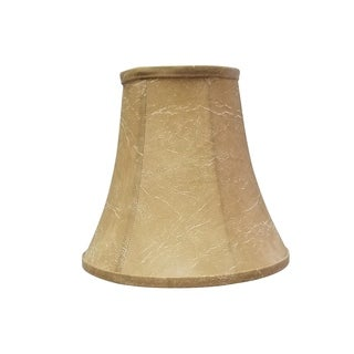 Royal Designs True Bell Lamp Shade, Antique Gold, 3.5 x 6 x 6.25, Flame Clip, BS-704-FC-6AGL