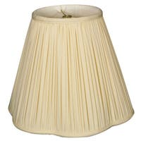 Royal Designs Bottom Scallop Gather Pleat Basic Lamp Shade, Eggshell, 8 x 16 x 13
