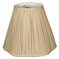 Royal Designs Bottom Scallop Gather Pleat Basic Lamp Shade, Beige, 7 x 14 x 11.5