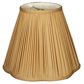 Royal Designs Bottom Scallop Gather Pleat Basic Lamp Shade, Antique Gold, 7 x 14 x 11.5