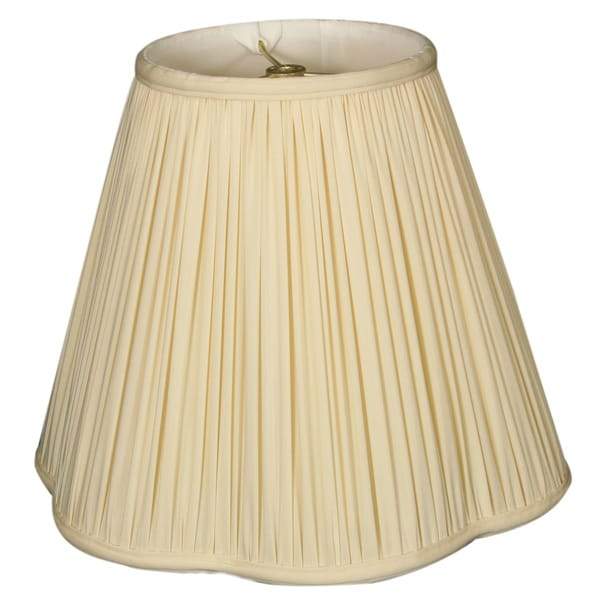 Royal Designs Bottom Scallop Gather Pleat Basic Lamp Shade, Eggshell, 6 x 12 x 10.27