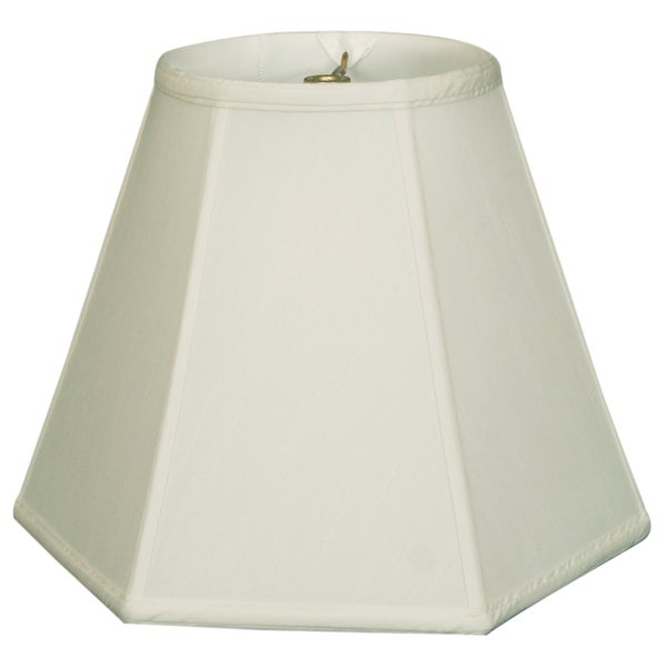 Royal Designs Hexagon Basic Lamp Shade, White, 5 x 13 x 9