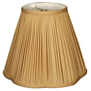 Royal Designs Bottom Scallop Gather Pleat Basic Lamp Shade, Antique Gold, 6 x 12 x 10.25