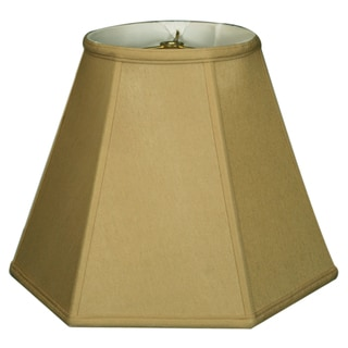 Royal Designs Hexagon Basic Lamp Shade, Antique Gold, 5 x 13 x 9