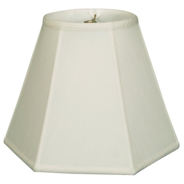 Royal Designs Hexagon Basic Lamp Shade, White, 9 x 18 x 13