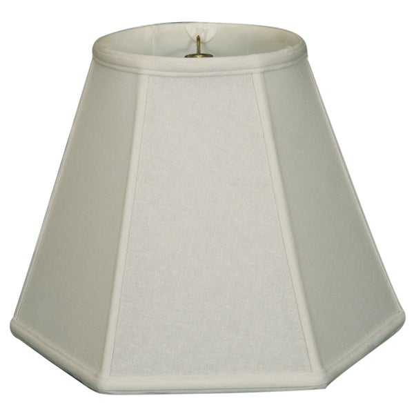 Royal Designs Hexagon Basic Lamp Shade, Linen White, 9 x 18 x 13