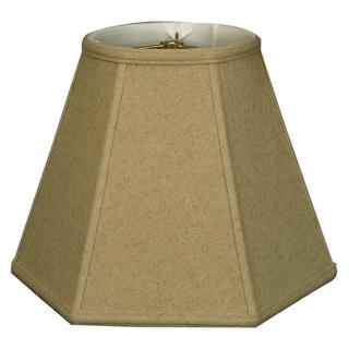 Royal Designs Hexagon Basic Lamp Shade, Linen Cream, 9 x 18 x 13