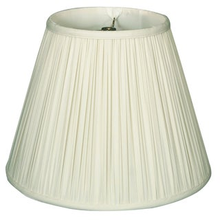 Royal Designs Deep Empire Gather Pleat Basic White Lamp Shade (10 x 20 x 15)