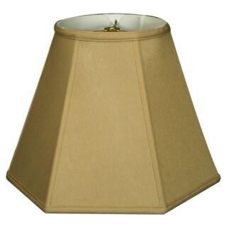 Royal Designs Hexagon Basic Lamp Shade, Antique Gold, 9 x 18 x 13
