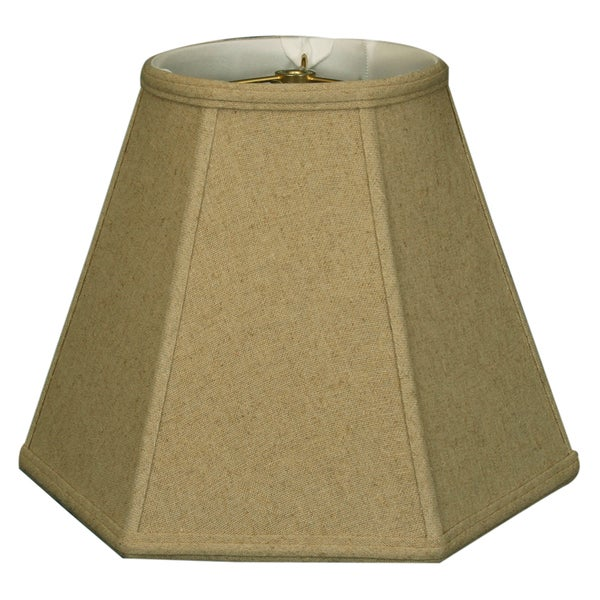 Royal Designs Hexagon Basic Lamp Shade, Linen Cream, 8 x 16 x 12