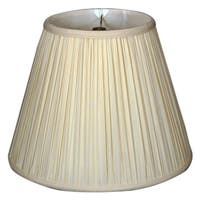 Royal Designs Deep Empire Gather Pleat Basic Lamp Shade, Eggshell, 10 x 20 x 15