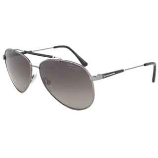 Tom Ford Rick FT0378 Men's Gunmetal Frame Polarized Grey Lens Sunglasses