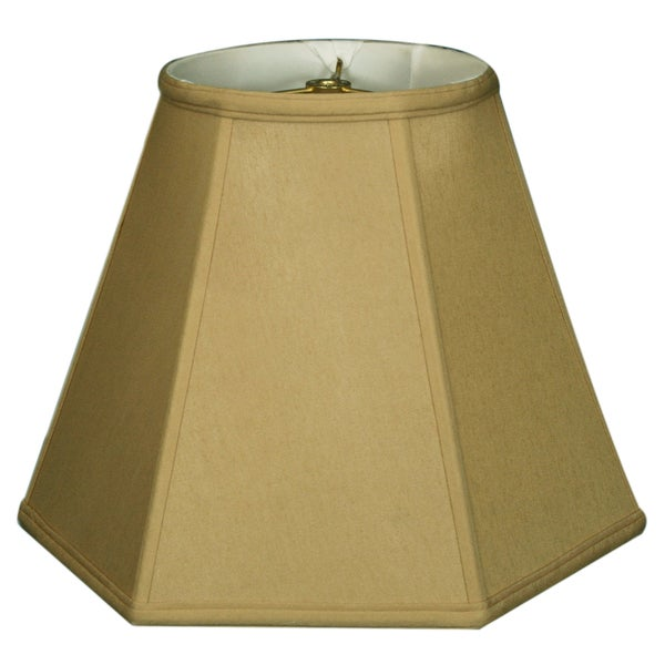 Royal Designs Hexagon Basic Lamp Shade, Antique Gold, 8 x 16 x 12