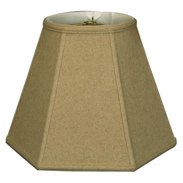 Royal Designs Hexagon Basic Lamp Shade, Linen Cream, 7 x 14 x 11