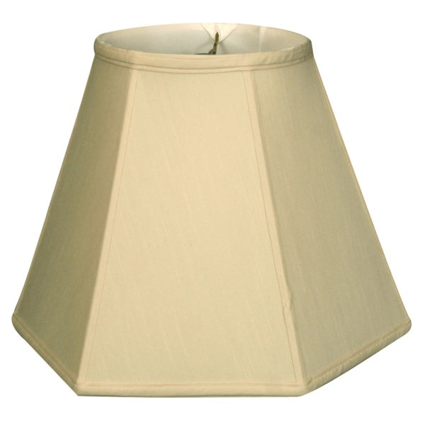 Royal Designs Hexagon Basic Lamp Shade, Beige, 7 x 14 x 11