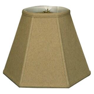 Royal Designs Basic Cream Linen Hexagon Lamp Shade