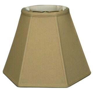 Royal Designs Hexagon Basic Lamp Shade, Linen Beige, 6.5 x 12 x 10