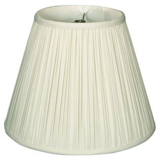 Royal Designs Deep Empire Gather Pleat Basic Lamp Shade, Antique Gold, 9 x 18 x 14