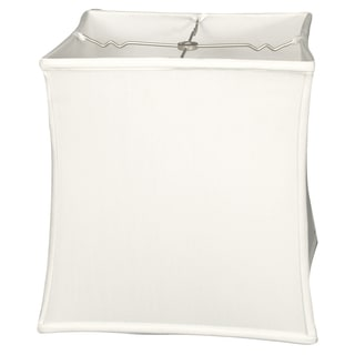 Royal Designs Square Cube Bell Basic Lamp Shade, White, 14 x 15 x 14