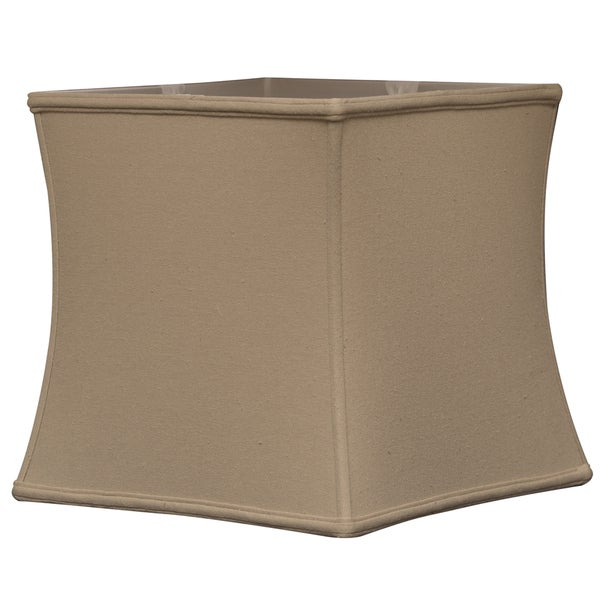 Royal Designs Square Cube Bell Basic Lamp Shade, Linen Beige, 14 x 15 x 14