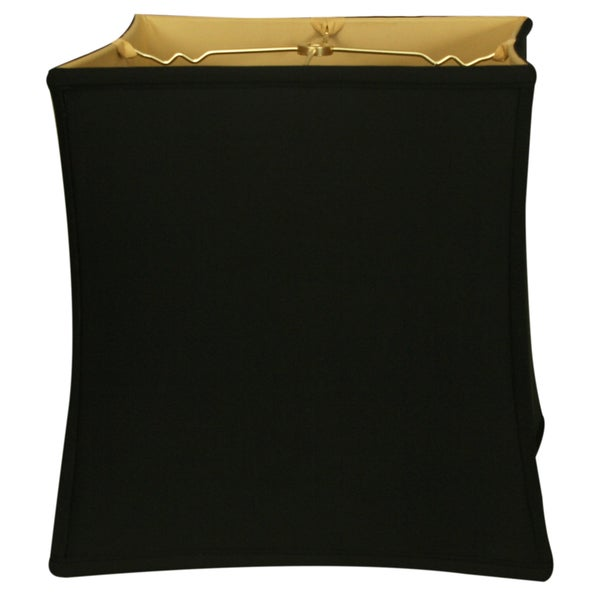 Royal Designs Square Cube Bell Basic Lamp Shade, Black, 14 x 15 x 14